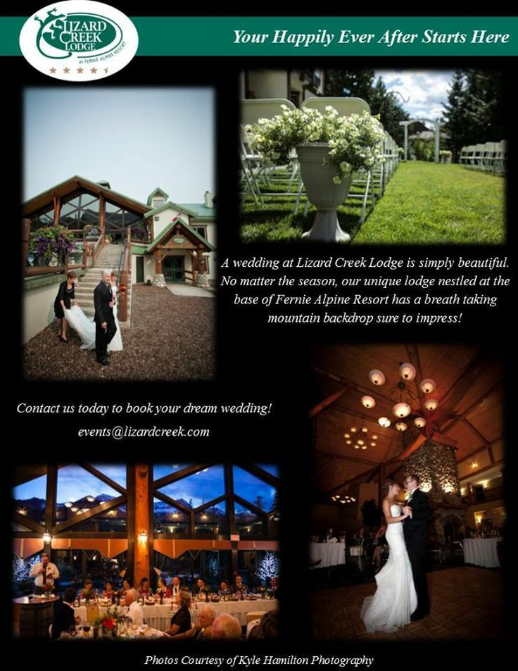 Your happily ever after starts here.   Lizard Creek Lodge at Fernie Alpine Resort