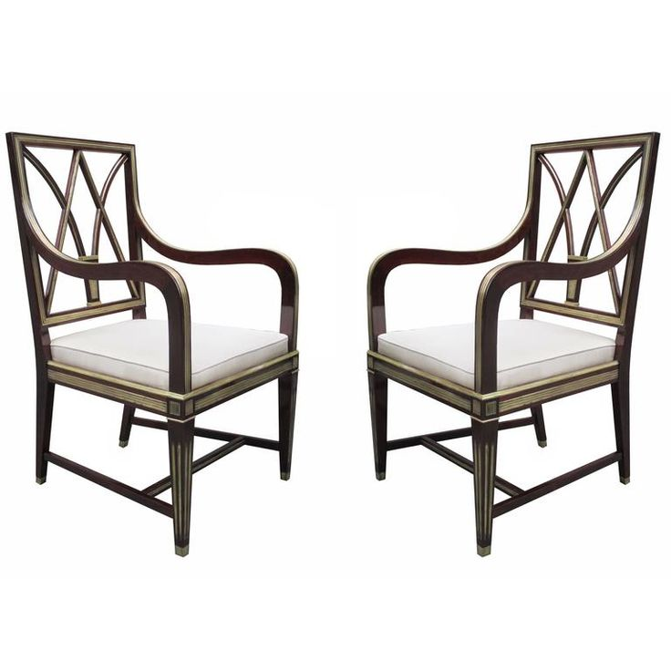 Very Fine Pair of Neoclassical Armchairs 1