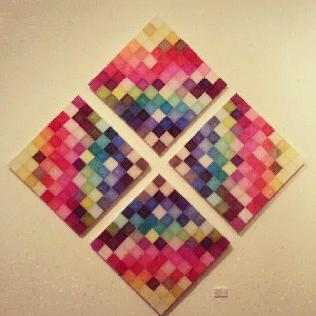 "45 Me gusta, 3 comentarios - 쌈지사랑 규방공예 연구소 (@ssamzisarang) en Instagram: ""옥사 조각보 ( 김지희 작가, 2011년) "" Over the rainbow"" Oksa Jogakbo (Oksa - Korean traditional silk, hand-…"""