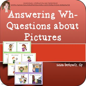 Answering Wh Questions About Pictures for Expressive Langu