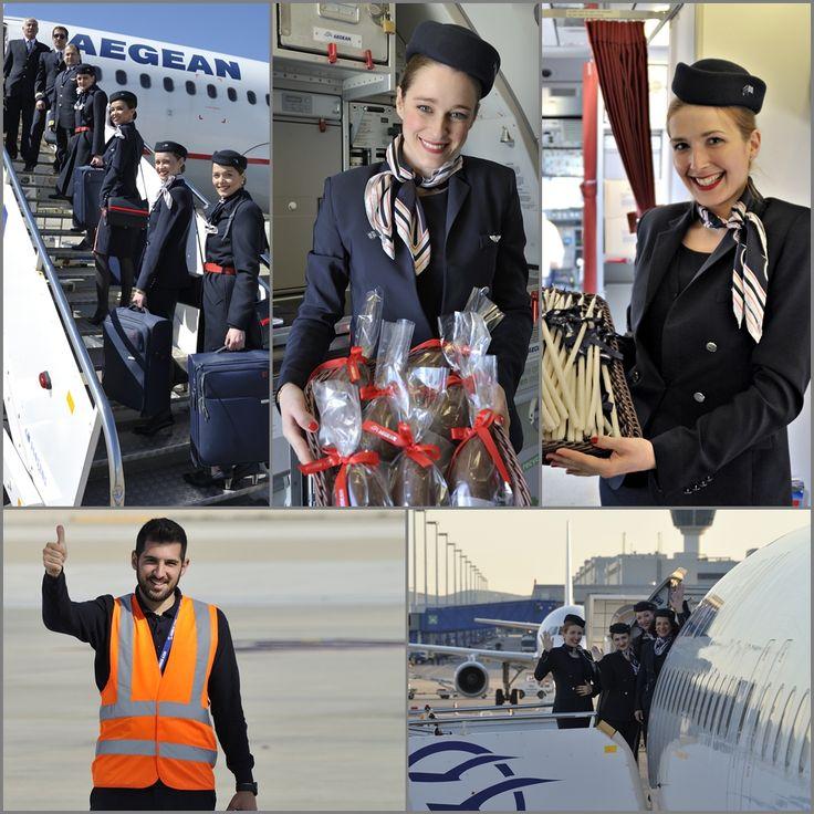 6. Μεγάλο Σάββατο το πρωί στο αεροδρόμιο μια ιδιαίτερα εορταστική ατμόσφαιρα.