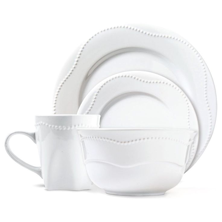 Dotrielle Blanc Premium Stoneware Dinner Set