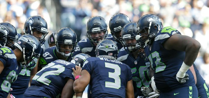 Seattle Seahawks Cameron Morrah congratulates Seahawks' Anthony McCoy for scoring a touchdown against the Tennessee Titans in the second half of an NFL preseason football game, Saturday, Aug. 14, 2010, in Seattle. (AP Photo/John Froschauer)