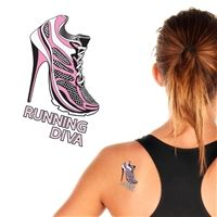 Calling all Diamond Fit Diva runners! This is a temporary tattoo!