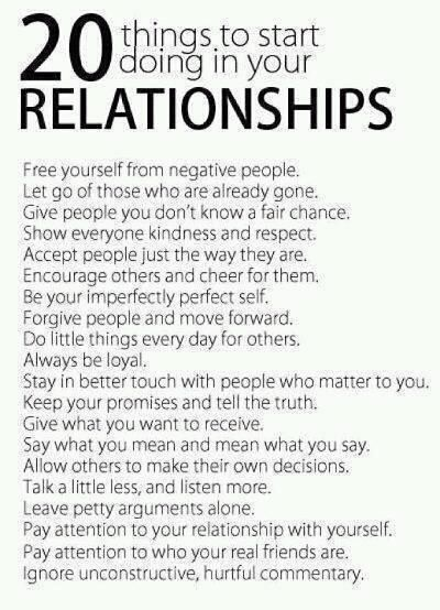 guide to good relationships. :)