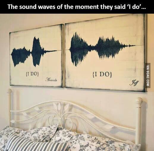 """The waves of their sounds saying """"I do"""" at their wedding"""