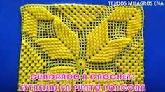 Cuadrado o Muestra ESTRELLA POPCORN a crochet paso a paso para colchas y cubrecamas - YouTube