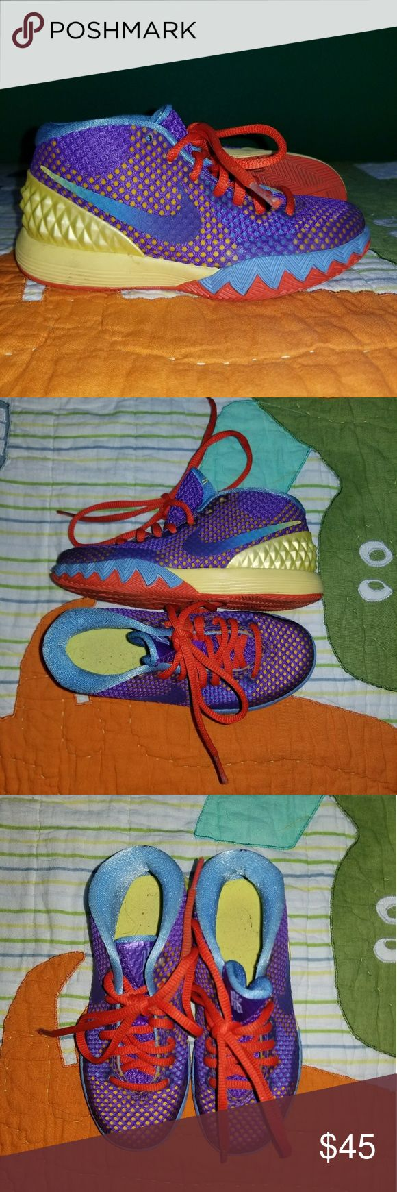 Nike Kyrie 1's Kyrie Irving NIKE basketball shoes. These are childrens shoes. Gently used, AMAZING CONDITION. Nike Shoes Sneakers