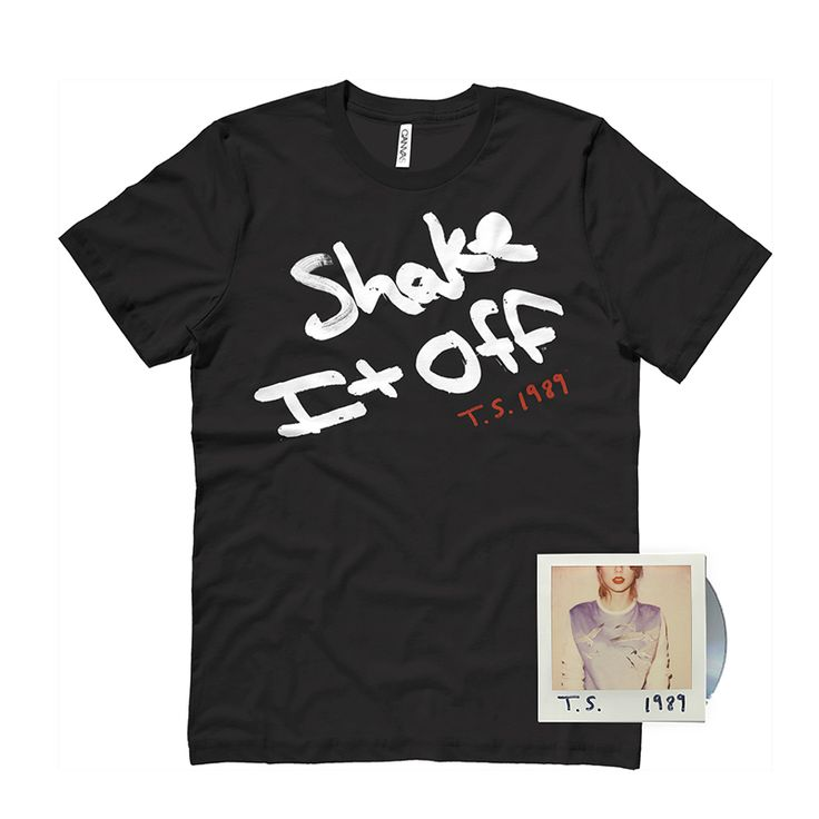Check out the deal on PRE BUY Black Shake It Off Tee CD Package at Taylor Swift Official Online Store