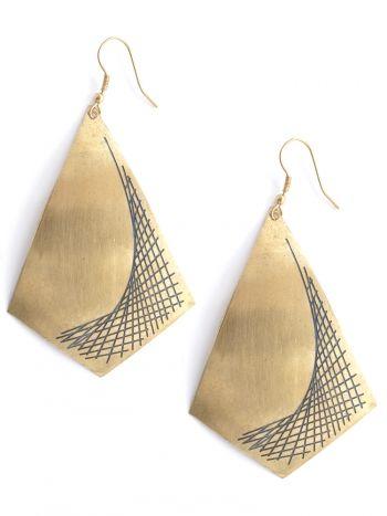 Mata Traders - Widows Peak earrings $18.00