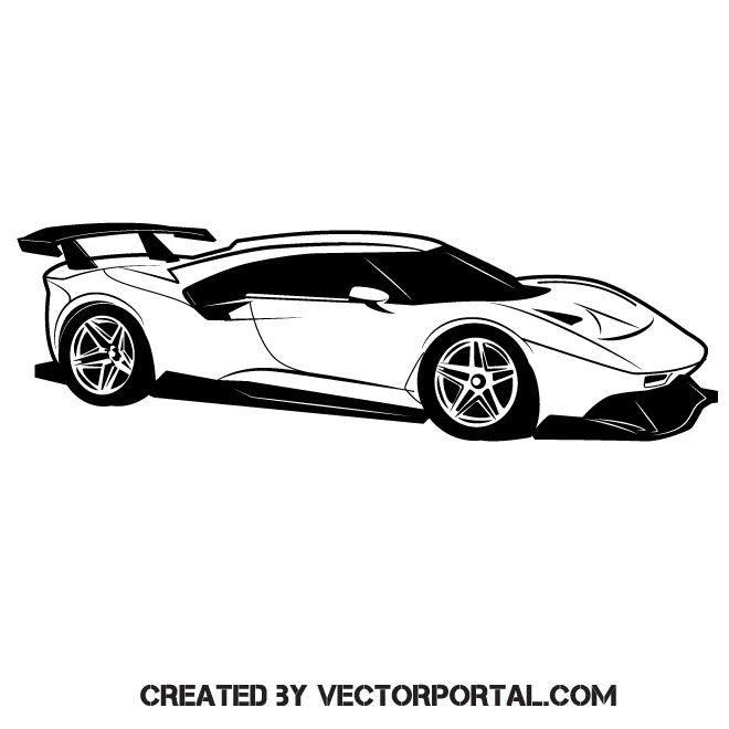 Ferrari Car Vector Freebie Illustration Freevectors Ferrari