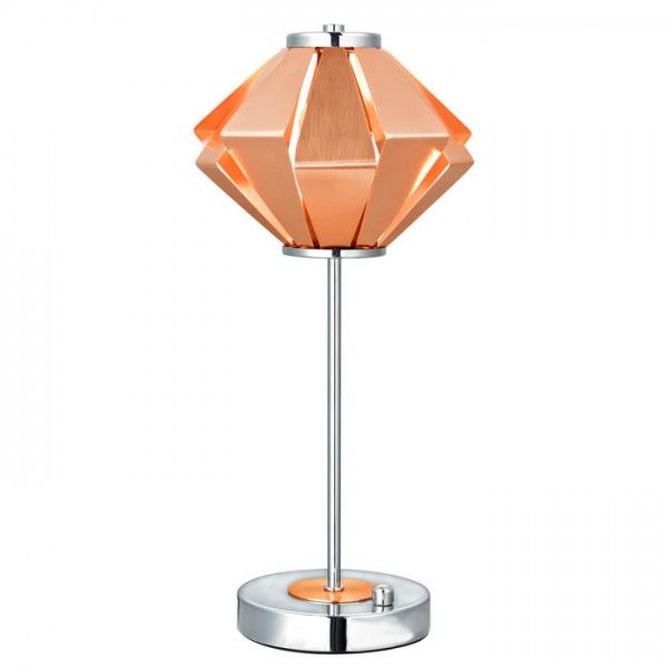 Hornbæk bordlampe - Børstet kobber - Ø18 - Colors by Copenhagen