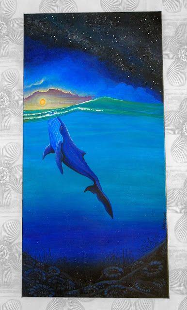 Water medicine - Acrylic on Canvas - 30 x 60 cm - By Nahima