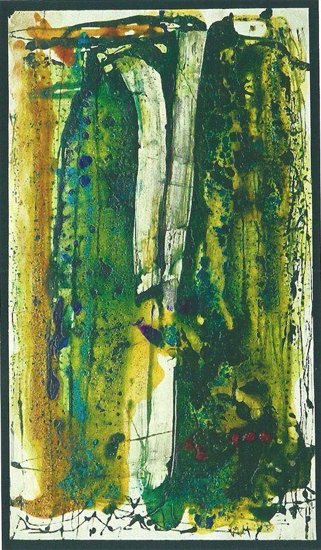 Senkichiro Nasaka - Mixed media on paper, signed and dated, 1962 - Size: 34 x 59,3 cm