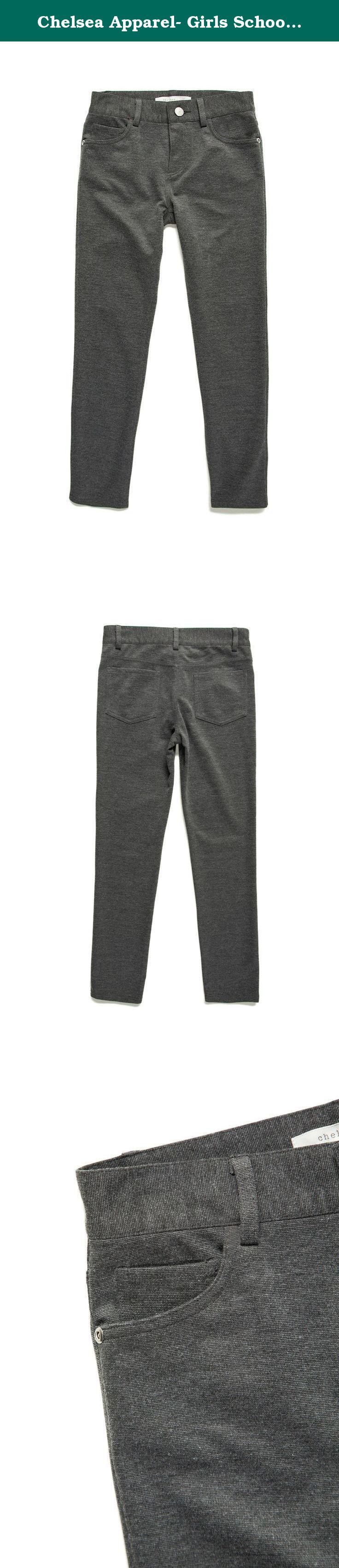 Chelsea Apparel- Girls School Uniforms Ponte Knit Pants MP1069R, CHARCOAL, XS. Chelsea Apparel- Girls School Uniforms Ponte Knit Pants Very comfortably school uniform or casual ponte knit pants for kids and girls Your Children will love to wear them everyday.