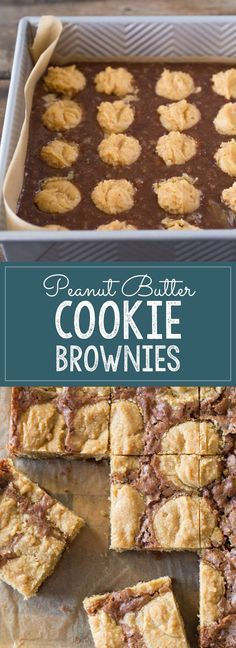 An easy homemade brownie batter studded with globs…