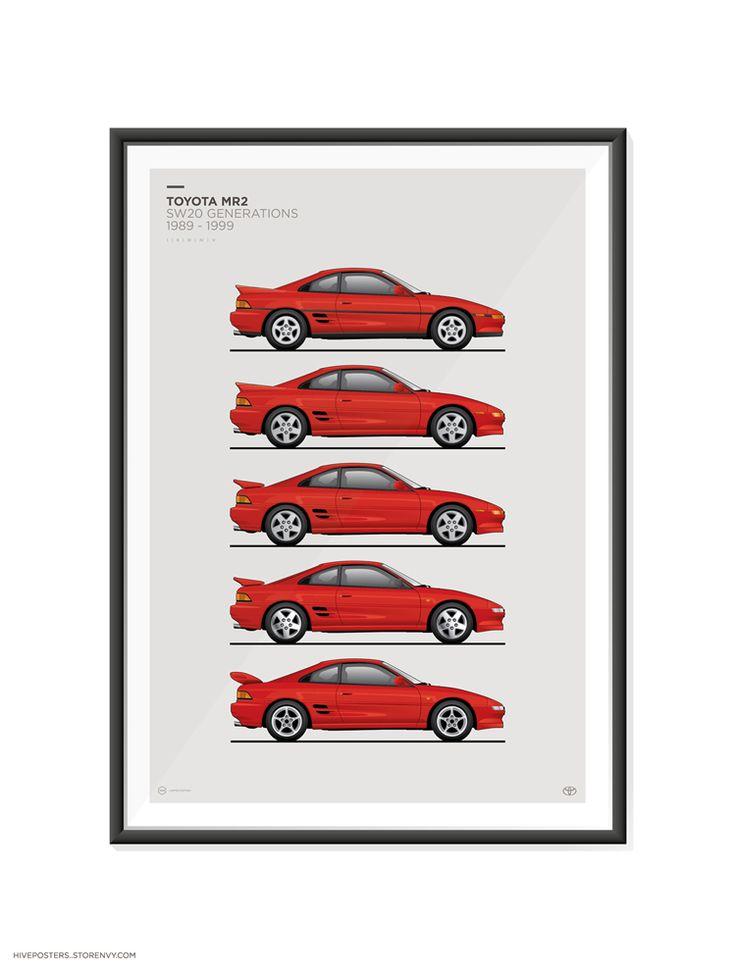 Toyota MR2 SW20 Generations Poster #MR2 #Toyota #SW20 #NSX #s13 #car