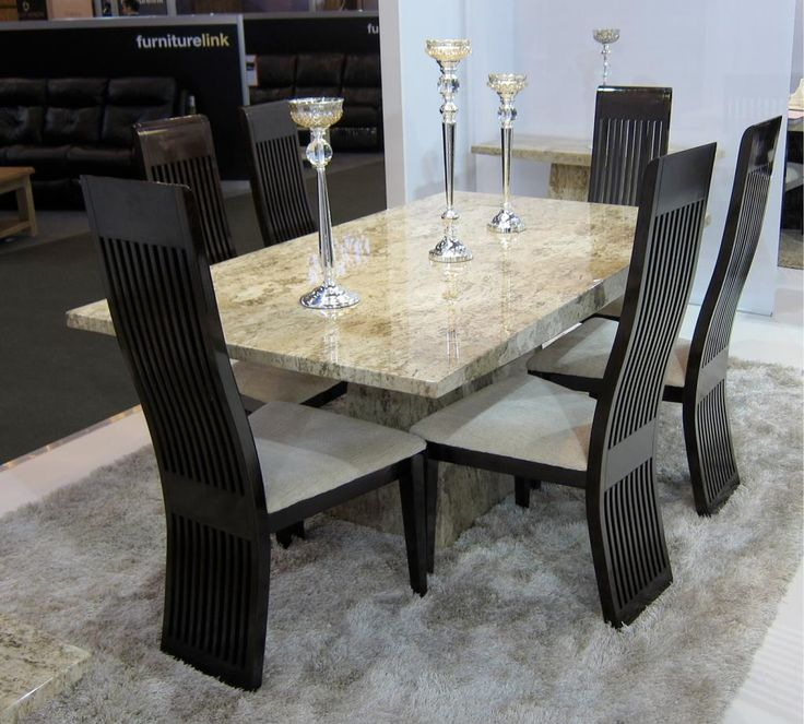 Marble Dining Room Table: Dining Room Table With Faux Marble Top
