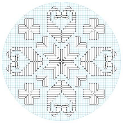 stars, ships and crosses - hardanger embroidery for kids