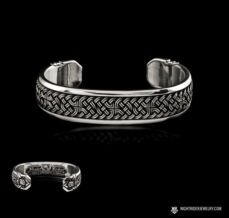 """NightRider Jewelry """"Celtic Knot Cuff"""" Women's Cuff Bracelet in Solid Sterling Silver 