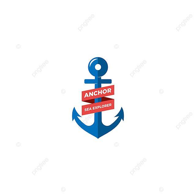 مرساة ناقلات الرجعية علامة البحرية مع مرساة Anchor Logo Vector Logo Sea Explorer