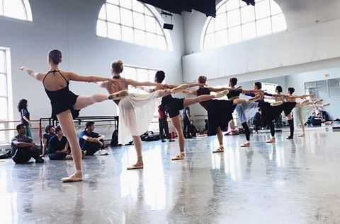 From @bostonballet A row of Nymphs and their perfect arabesques in #BBSleepingBeauty rehearsal. Opening Night is tomorrow! Will we see you there? #BostonBallet