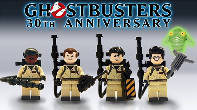 Lego announces 30th anniversary Ghostbusters ecto 1 and mini figures.