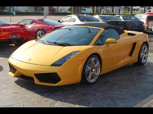 2008 Yellow Lamborghini Gallardo Spyder http://www.iseecars.com/used-car-finder#results