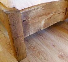 Dubová postel z fošen
