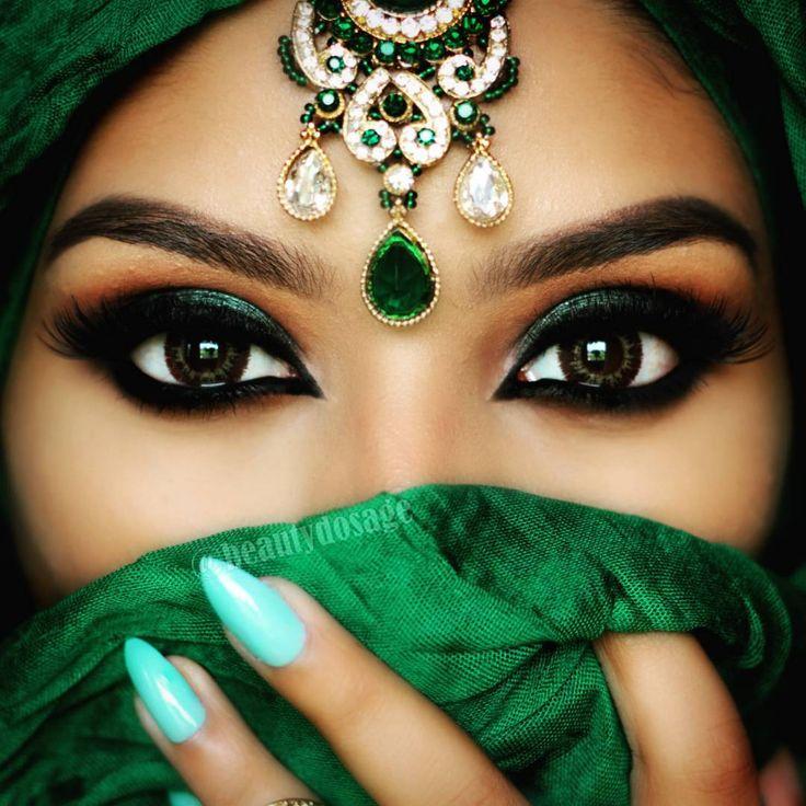 Beautiful green eyeshadow