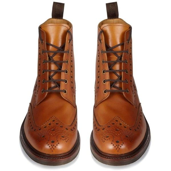 Loake Wide fit tan brogue style ankle boots and other apparel, accessories and trends. Browse and shop 8 related looks.