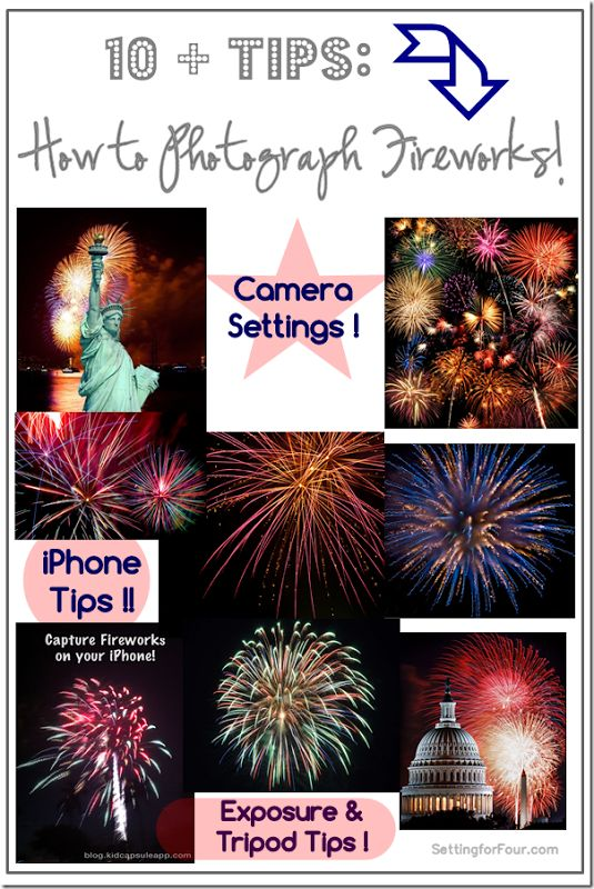 10  Tips How to Photograph Fireworks ! New Year's Eve or 4th of July- capture those gorgeous firework displays!