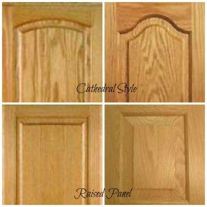 Getting rid of the HORRIBLE, nasty, 80's-orange-oak cathedral cabinets!