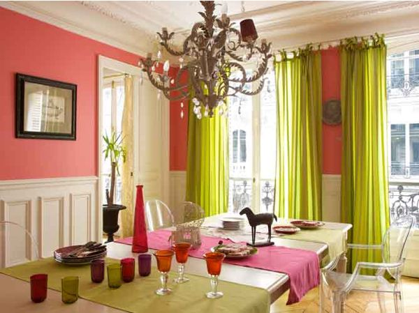 Coral walls coral and coral paint colors on pinterest for Arredamento stile parigino