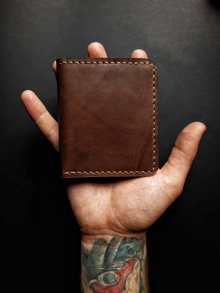 Brown Bifold 5 /Minimalist leather wallet/Credit card holder/Slim wallet/Minimalist Wallet/Minimalist Credit Card Wallet