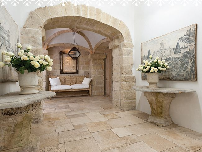 Reclaimed Stone Chateau Domingue Tuscan Home Design
