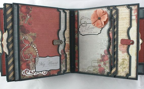 6x6 One Love Scrapbook Mini-Album PDF Tutorial por SoMuchScrap