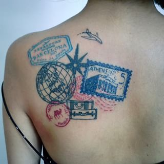 These stunning stamps: | 41 Beautiful Tattoos That Will Spark Your Travel Bug