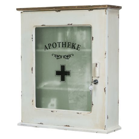 Medizinschrank, abschliessbar, Used Look Vorderansicht