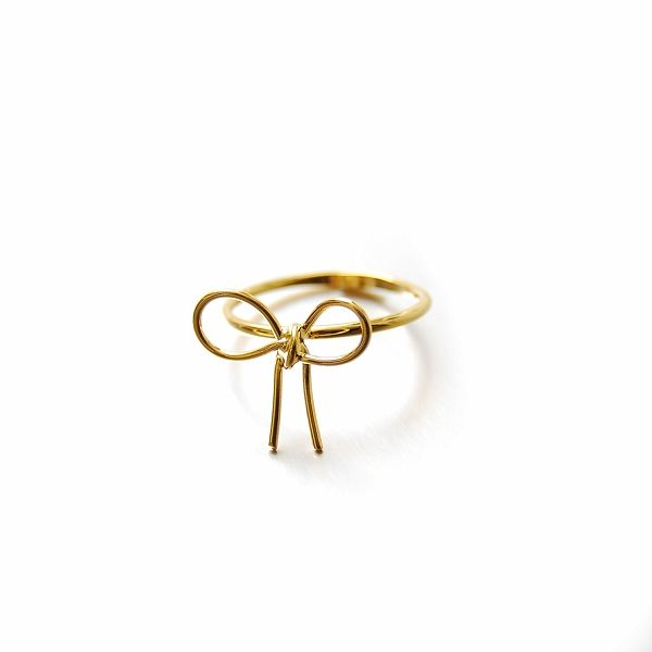 Lilou FINE RIBBON RING gold