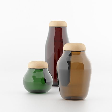 London designer Héctor Serrano presents this series of jars with cork lids at Maison&Objet, which opens today in Paris