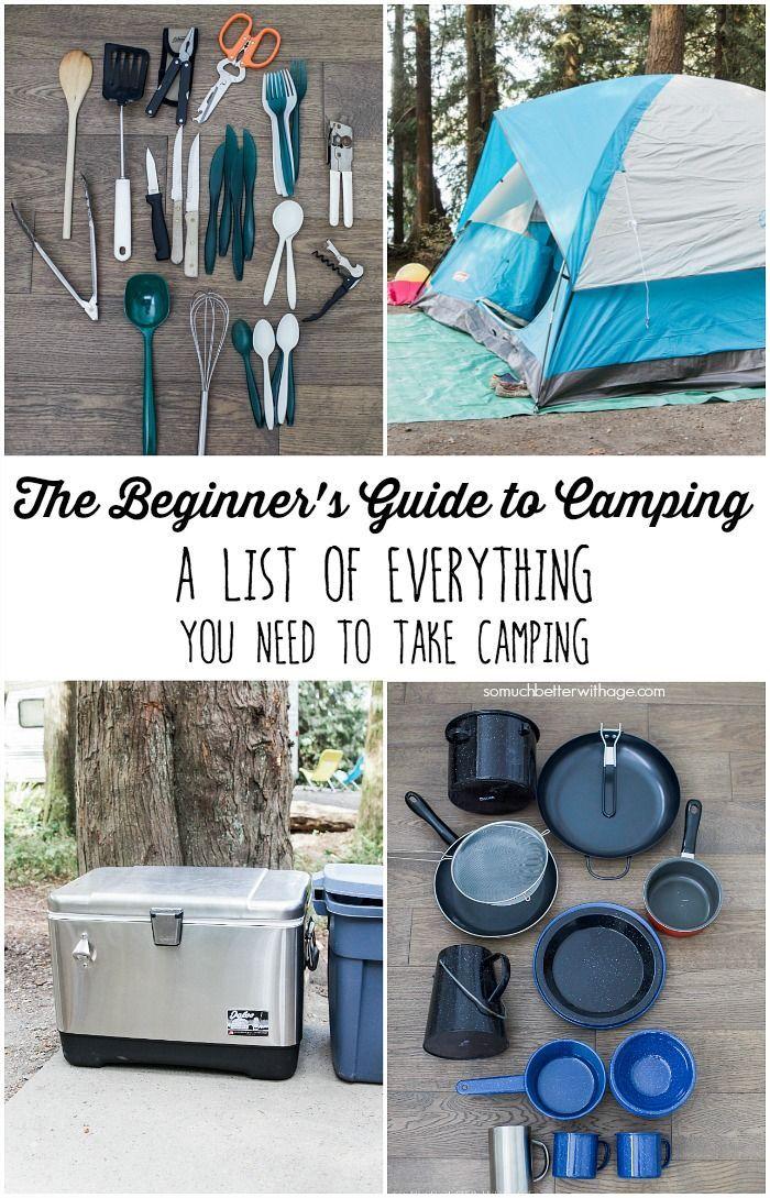 Le guide du débutant pour le camping - Une liste de tout ce dont vous avez besoin pour faire du camping - Beaucoup mieux avec l'âge
