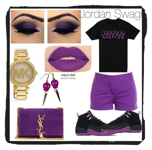 """Jordan swag"" by mizzdap on Polyvore featuring NIKE, J.Crew, Yves Saint Laurent, Smashbox and Michael Kors"