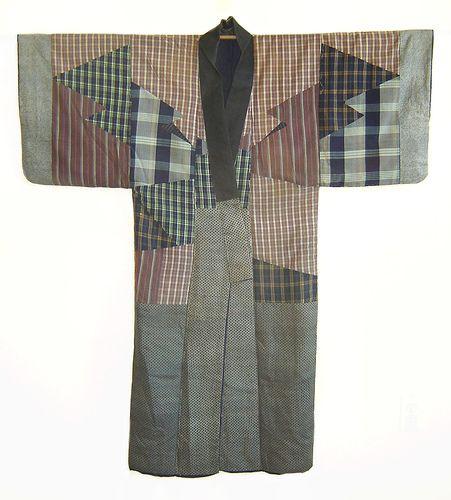 A Pieced Silk Under Kimono, late 19th century by Sri Threads, via Flickr