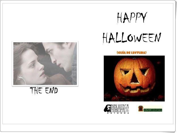 "Guía de lectura ""Happy Halloween"" (Biblioteca Municipal de Astorga, León, España)"