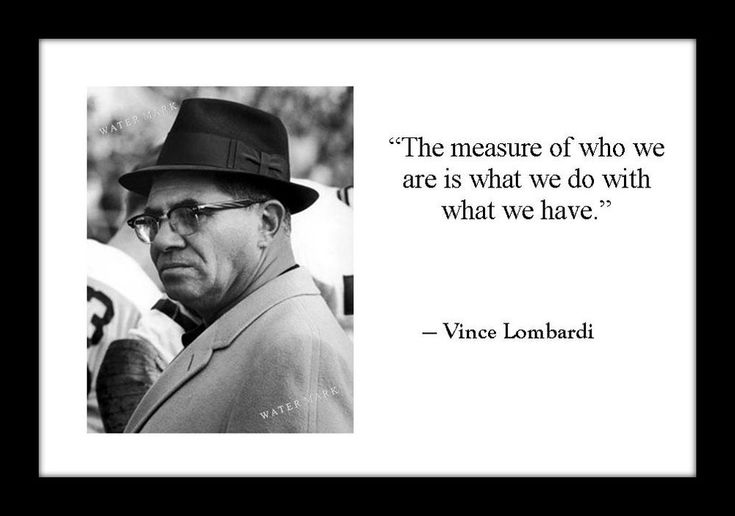 Vince Lombardi 4x6 Photo Print With Motivational Quote Football Super Bowl  | Collectibles, Photographic Images, Contemporary (1940-Now) | eBay!