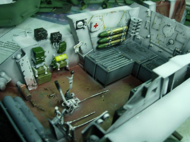 1/16 scale Russian T34 interior, by ademoelart