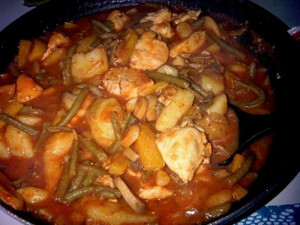 chicken with potatoes and green beans