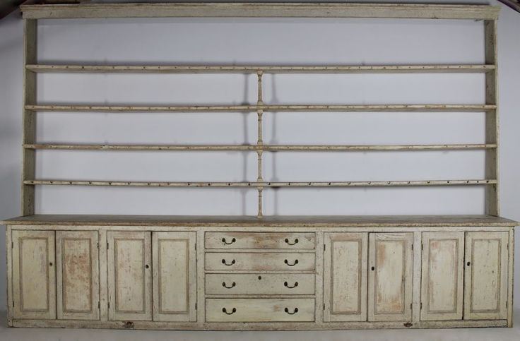 Grand Scale Country House Original Painted Dresser