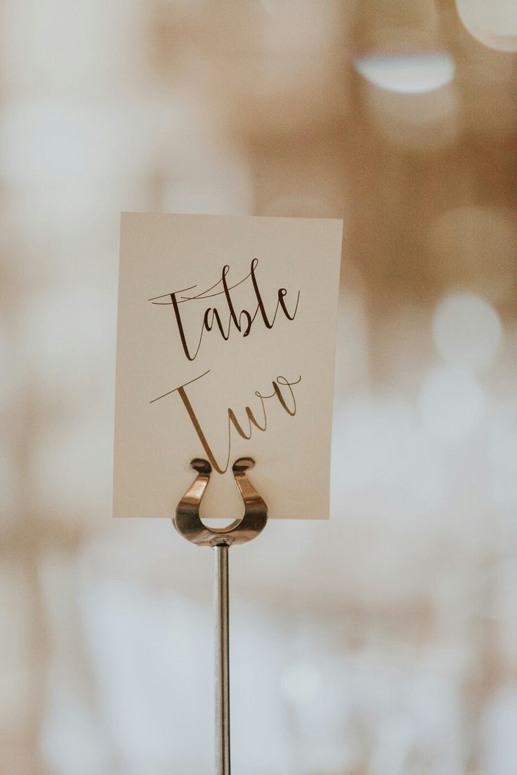 calligraphy for wedding place settings